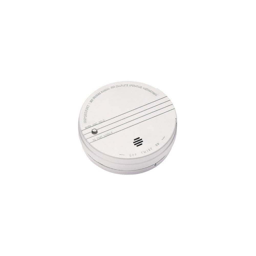 Kidde Battery Operated Smoke Detector With Led Power Indicator And Ionization Sensor