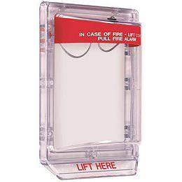 Protecteur de poste d'alarme d'incendie à tirette