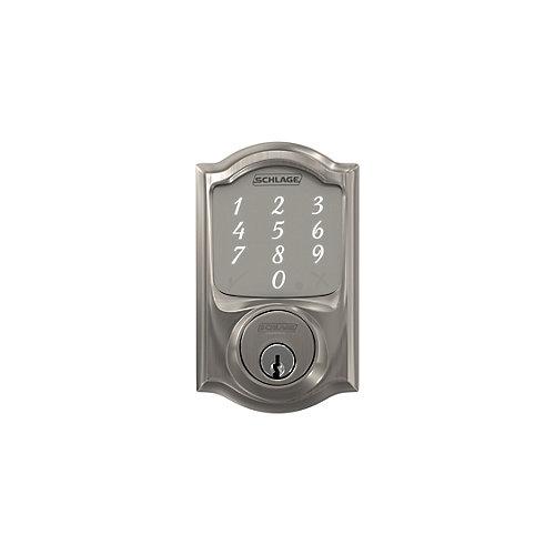 Sense Camelot Satin Nickel Electronic Smart Keyless Entry Lock Deadbolt
