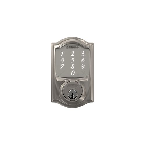 Camelot Satin Nickel Touchscreen Sense Smart Door Lock Rated AAA