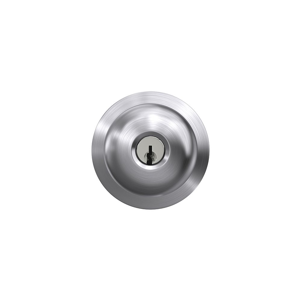 Schlage Plymouth Satin Chrome Light Commercial Keyed Entry Door Knob