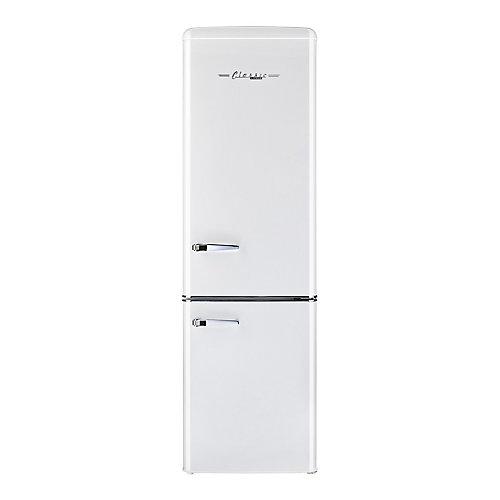 Réfrigérateur à congélateur inférieur rétro, 21,6 po, 9 pi3