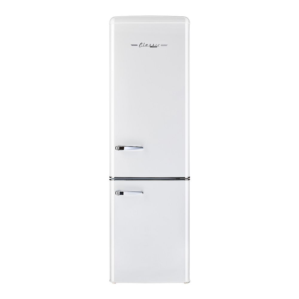 Unique Retro 21.6-inch 9 cu. ft. Bottom Freezer Refrigerator