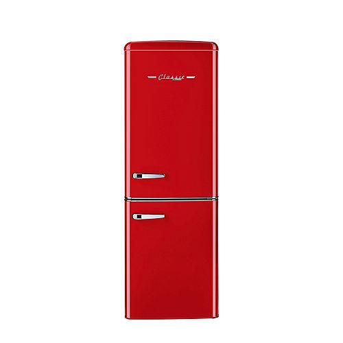 Réfrigérateur à congélateur inférieur rétro, 21,6 po, 7 pi3