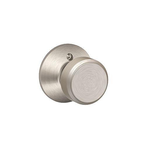Bowery Satin Nickel Inactive Non-turning Door Knob