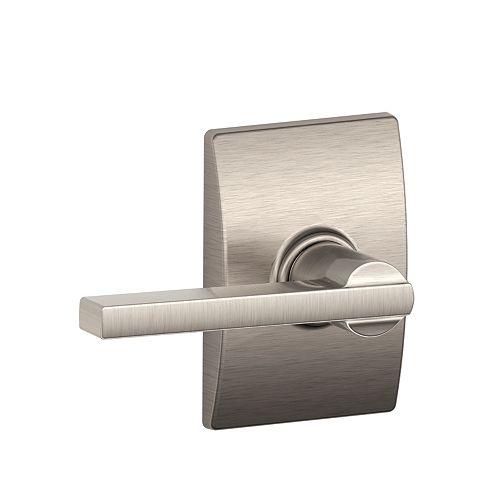 Latitude Serrure Avecvier De Porte Non Verrouillable Pour Couloir & Placard Avec Bordure Century En Nickel Satiné