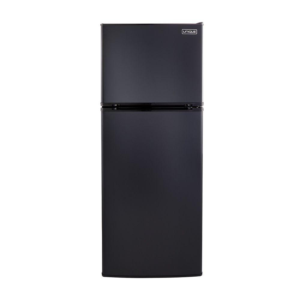 Unique 10.3 cu. ft. 290L Solar DC Top Freezer Refrigerator Danfoss/Secop Compressor in Black