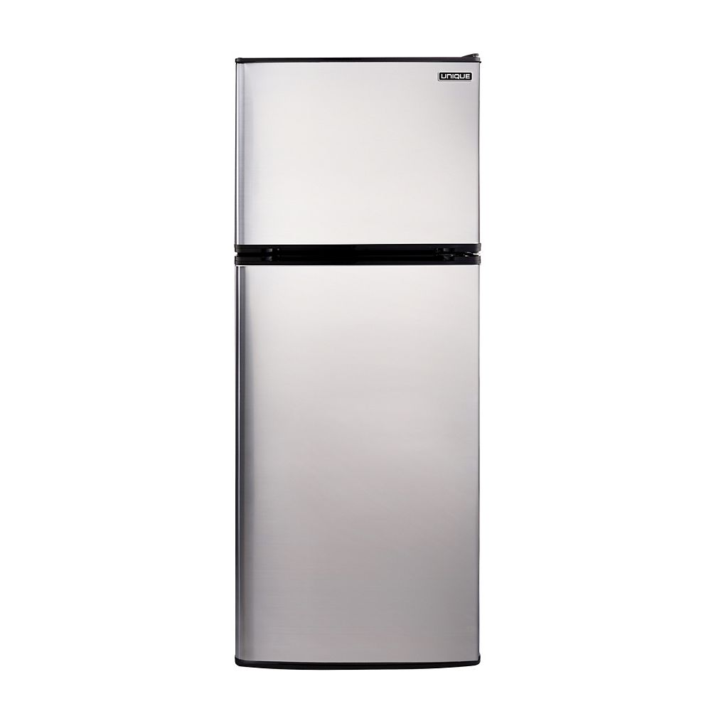 Unique 10.3 cu. ft. 290L Solar DC Top Freezer Refrigerator Danfoss/Secop Compressor in Stainless Steel