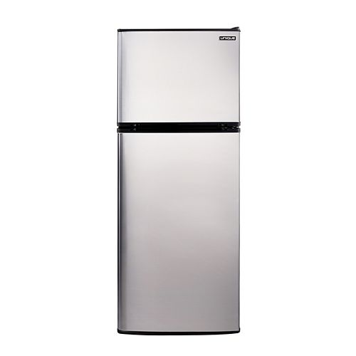 10.3 cu. ft. 290L Solar DC Top Freezer Refrigerator Danfoss/Secop Compressor in Stainless Steel