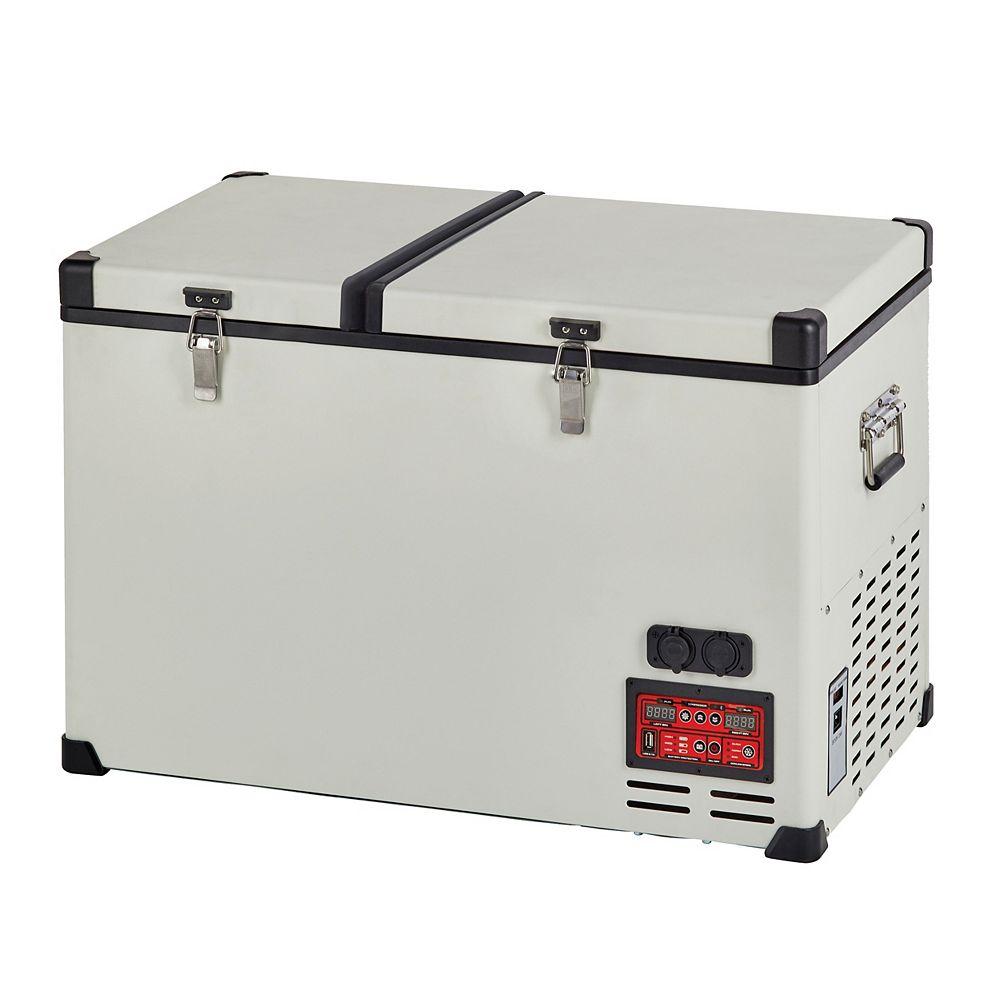 Unique Appliances 4.2 cu. ft. Portable Solar Powered AC/DC Powered Refrigerator-Freezer