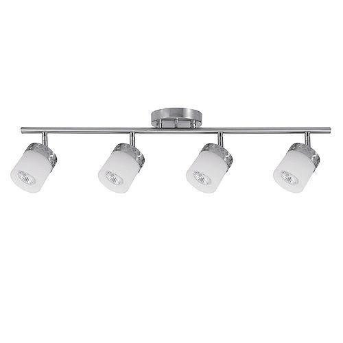 Globe Electric Hanrahan 4-Light Brushed Steel Track Lighting Kit