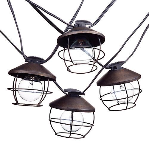 Guirlande lumineuse intérieur/extérieur de collection Chicago à 10 lumières, ampoules incluses