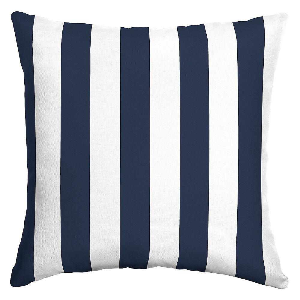 Hampton Bay Ferndale Cabana Outdoor Square Throw Pillow