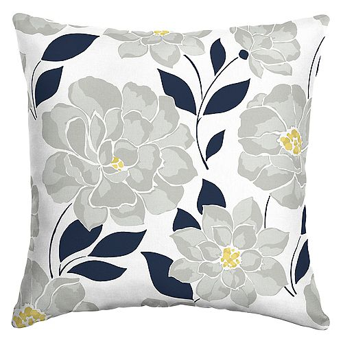 Hampton Bay Flower Show Outdoor Square Throw Pillow