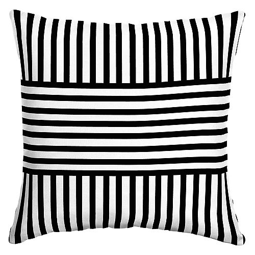 Jimi Stripe Outdoor Square Throw Pillow