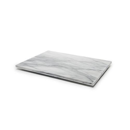 Marble Pastry Board, White 12x16 inches