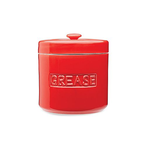 Red Grease Container