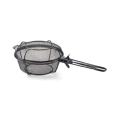 Chef's Jumbo Outdoor Grill Basket and Skillet with Removable Handles