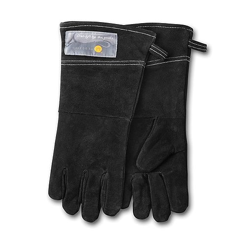 Leather Grill Gloves, Black