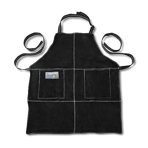 Leather Grill Apron, Black