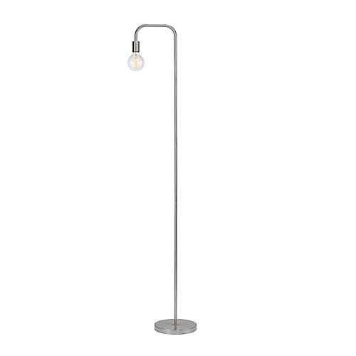 Holden 70 inch Brushed Steel Floor Lamp