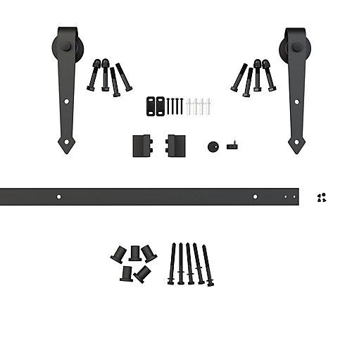 Black Arrow - Decorative Visible Rail Sliding Barn Door System