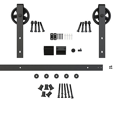 Ferris Wheel - Decorative Visible Rail Sliding Barn Door System