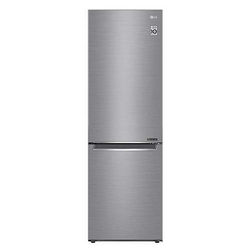 24-inch W 12 cu. ft. Bottom Freezer Refrigerator in Platinum Silver, Apartment-Size, Counter-Depth