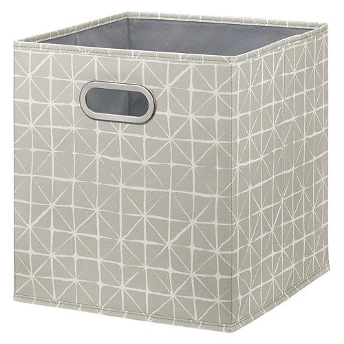 Boîte de rangement de tissu pliable Beige de 12 pouces