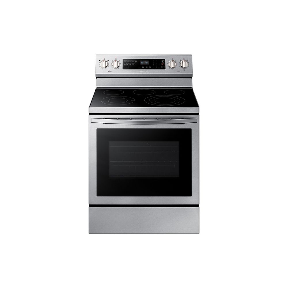 Samsung 5.9 cu. ft. Freestanding Single Oven Electric Range with Self-Cleaning True Convection Oven in Stainless Steel