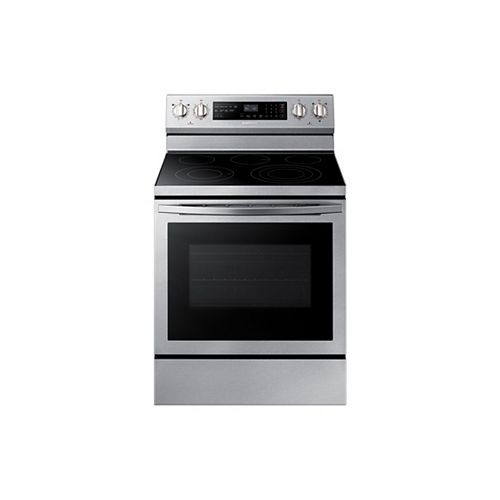 5.9 cu. ft. Freestanding Single Oven Electric Range with Self-Cleaning True Convection Oven in Stainless Steel