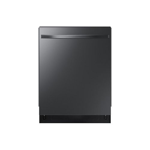 Samsung 24-inch Top Control Dishwasher in Black Stainless Steel with Stainless Steel Tub, 48 dBA - ENERGY STAR®