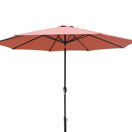 Island Umbrella Calypso 11-ft. Octagonal Market Umbrella w/ Auto-Tilt in Terra Cotta Olefin