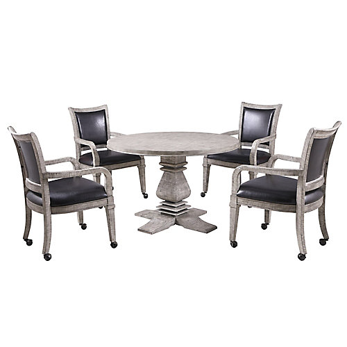 Montecito Dining and Poker Table Set - Driftwood