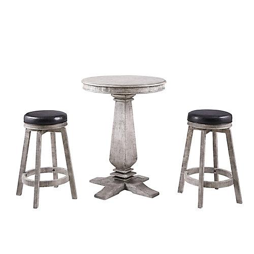 Montecito 3-Piece Pub Table Set - Driftwood