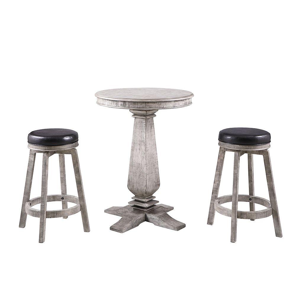 Hathaway Montecito 3-Piece Pub Table Set - Driftwood