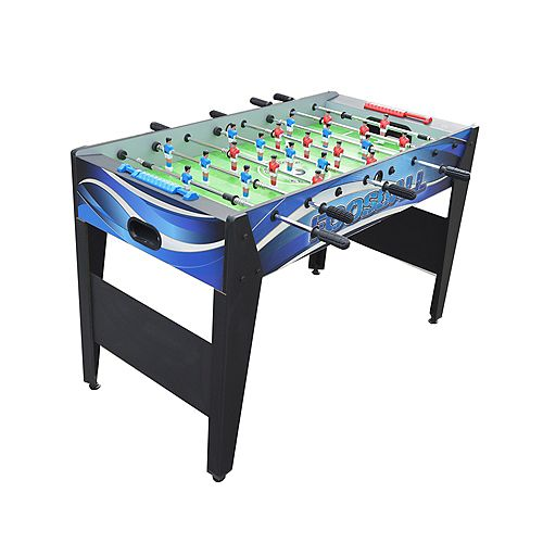 Allure 48-in Foosball Table - Black and Blue