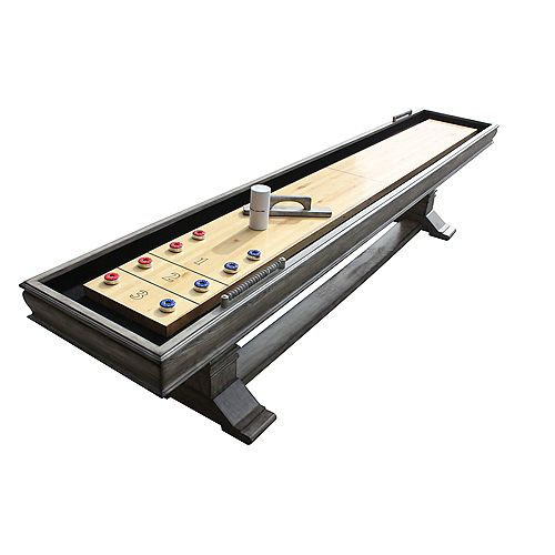 Hathaway Montecito 12-ft. Shuffleboard Table - Driftwood