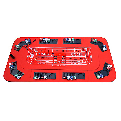 Table de casino portable sans limite 3-en-1 pour le poker, le blackjack et le craps