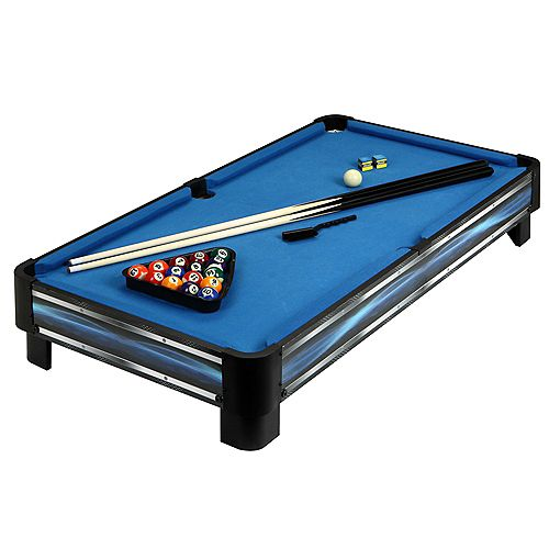 Breakout 40-in Tabletop Pool Table - Blue