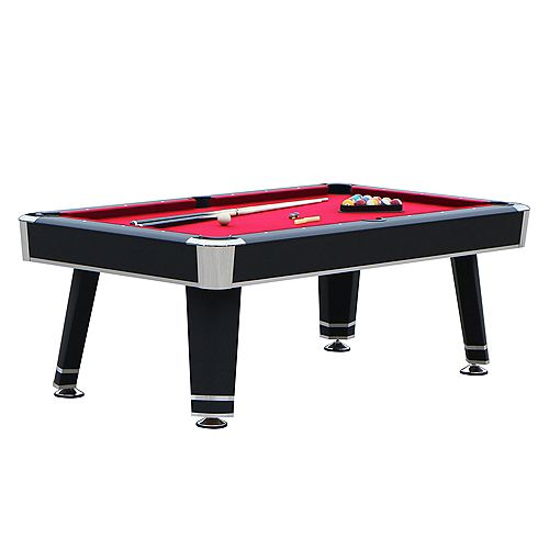 Jupiter 7-ft. Pool Table - Black
