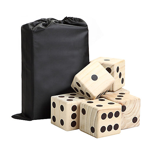 High Roller Yard Dice Set with Black Nylon Storage Bag