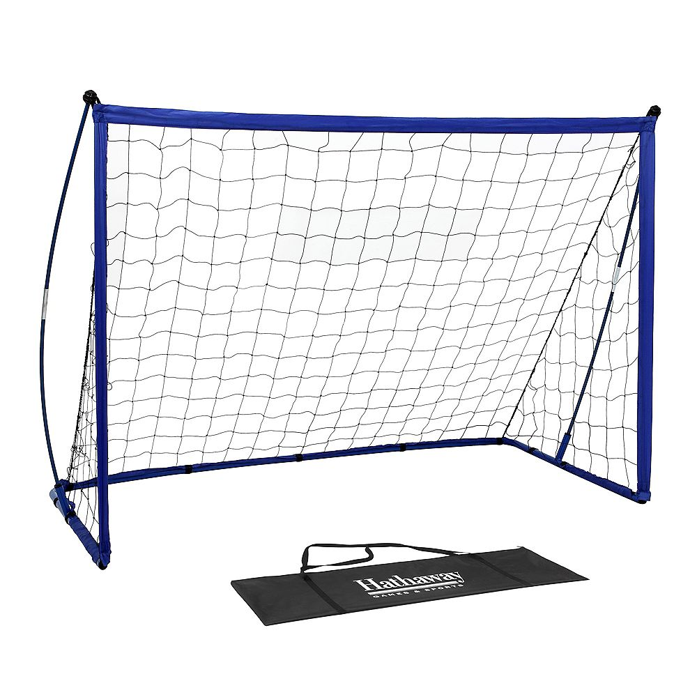 Hathaway Striker Portable Soccer Goal System with Net, Black Carry Bag