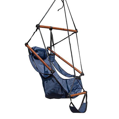 Hanging Hammock Swing Chair for Yard, Patio - Midnight Blue