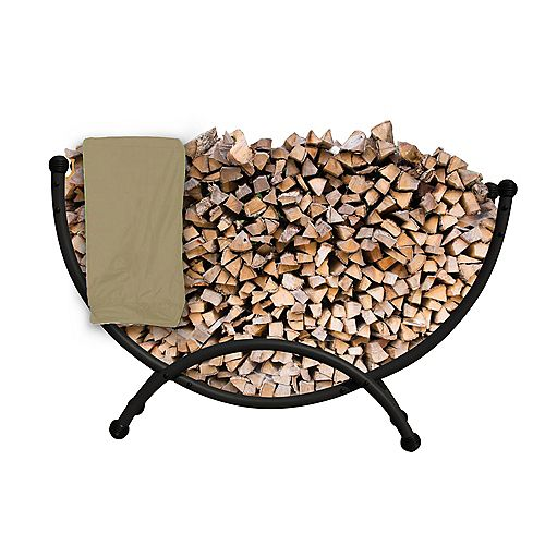 Deluxe Steel Firewood Storage with Cover 5-ft.