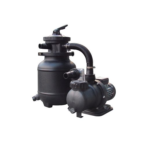 10-in, 25lb. Sand Filter System for AG Pools - 1/3HP, 1850GPH