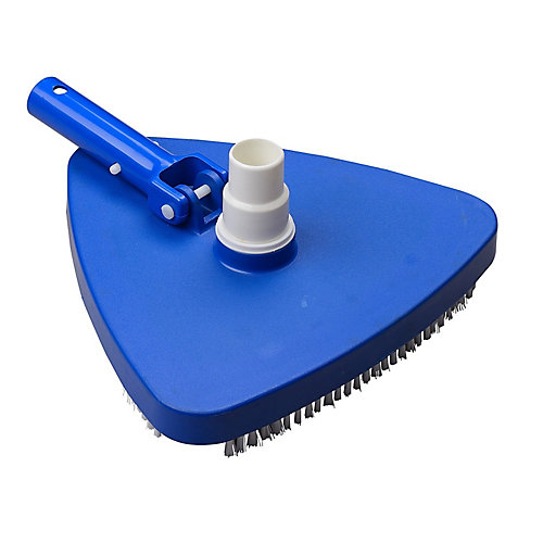Deluxe Triangle Pool Vacuum Head with Swivel, 1.25-1.5-inch
