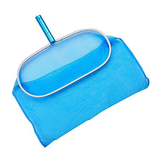 Aluminum Deep Pool Bag Rake w Chemical-Resistant Mesh, No-Mar Finish
