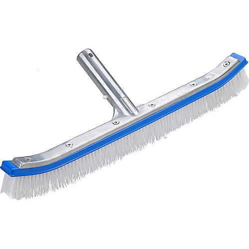 Curved Aluminum 18 inch Brush for Swimming Pool Walls and Floors