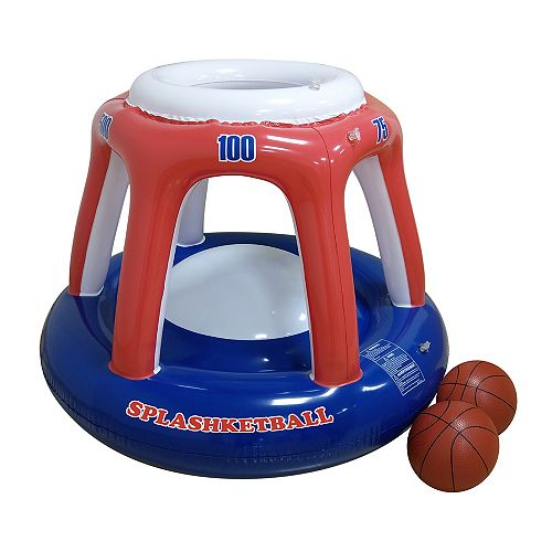 Blow Up Splashketball - Jouet de piscine de basket-ball gonflable